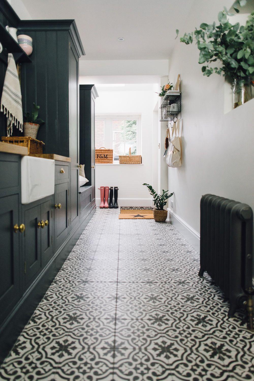 Berkeley Charcoal Tiles In Utility Boot Room