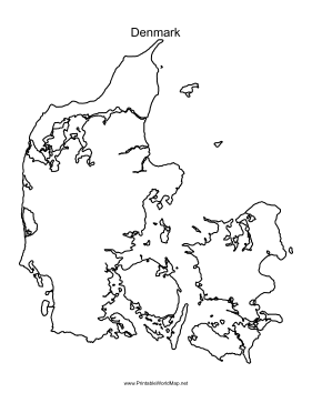 This Printable Outline Map Of Denmark Is Useful For School Assignments Travel Planning And More Free To Download And Print Denmark Map Map Map Design