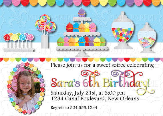 sweet shop candy buffet birthday party invitation creole paperie