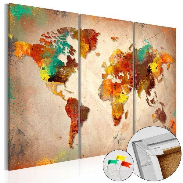 Cork map tablero de corcho painted world de regalosclub en etsy cork map tablero de corcho painted world de regalosclub en etsy gumiabroncs Gallery
