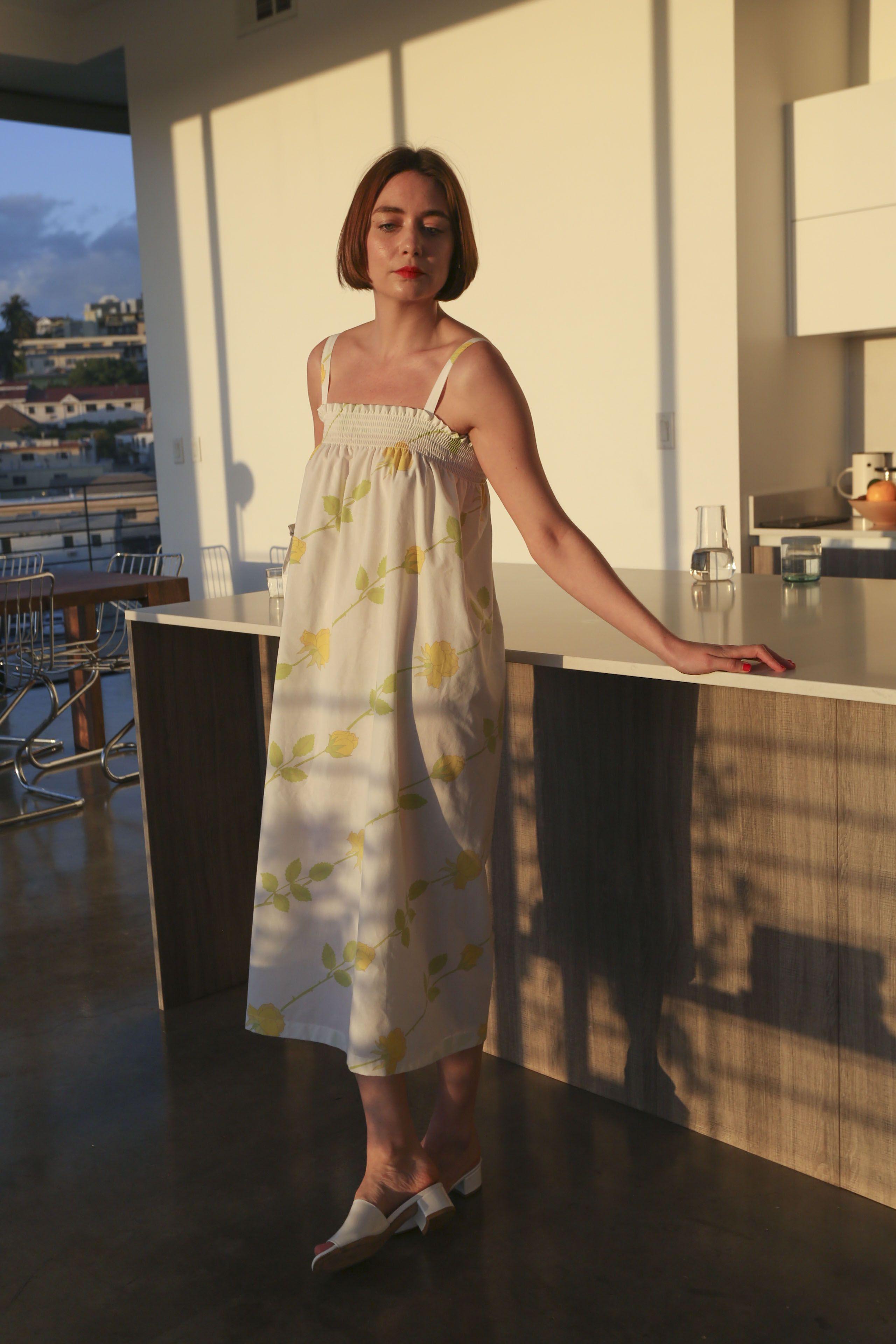 The Nonna Dress Dresses Summer Dresses Yellow Roses [ 3840 x 2560 Pixel ]