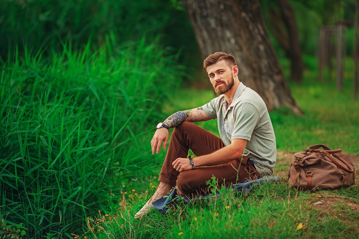 фотографии мужчин на природе