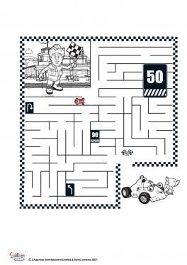 Roary Maze Activity Coloring Page