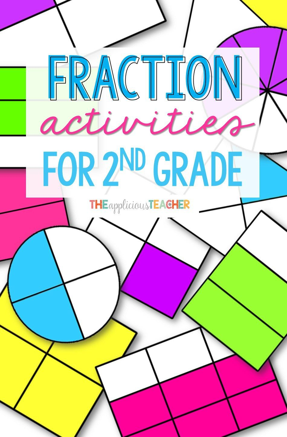 fraction activity ideas that are perfect for 2nd grade. I love the game at the end of this post!