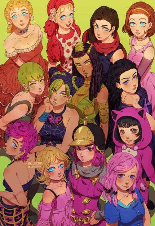 All The Best Jojo Girls By Darkgreyclouds On Tumblr Jojo Bizzare Adventure Jojo Bizarre Jojo Memes