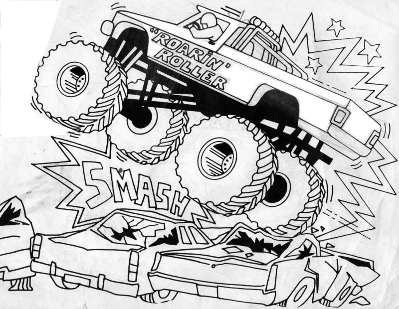Free Printable Monster Truck Coloring Pages For Kids Monster Truck Coloring Pages Monster Coloring Pages Truck Coloring Pages