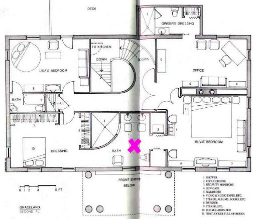 Graceland upstairs upstairs floor plan of graceland x for Upstairs plans