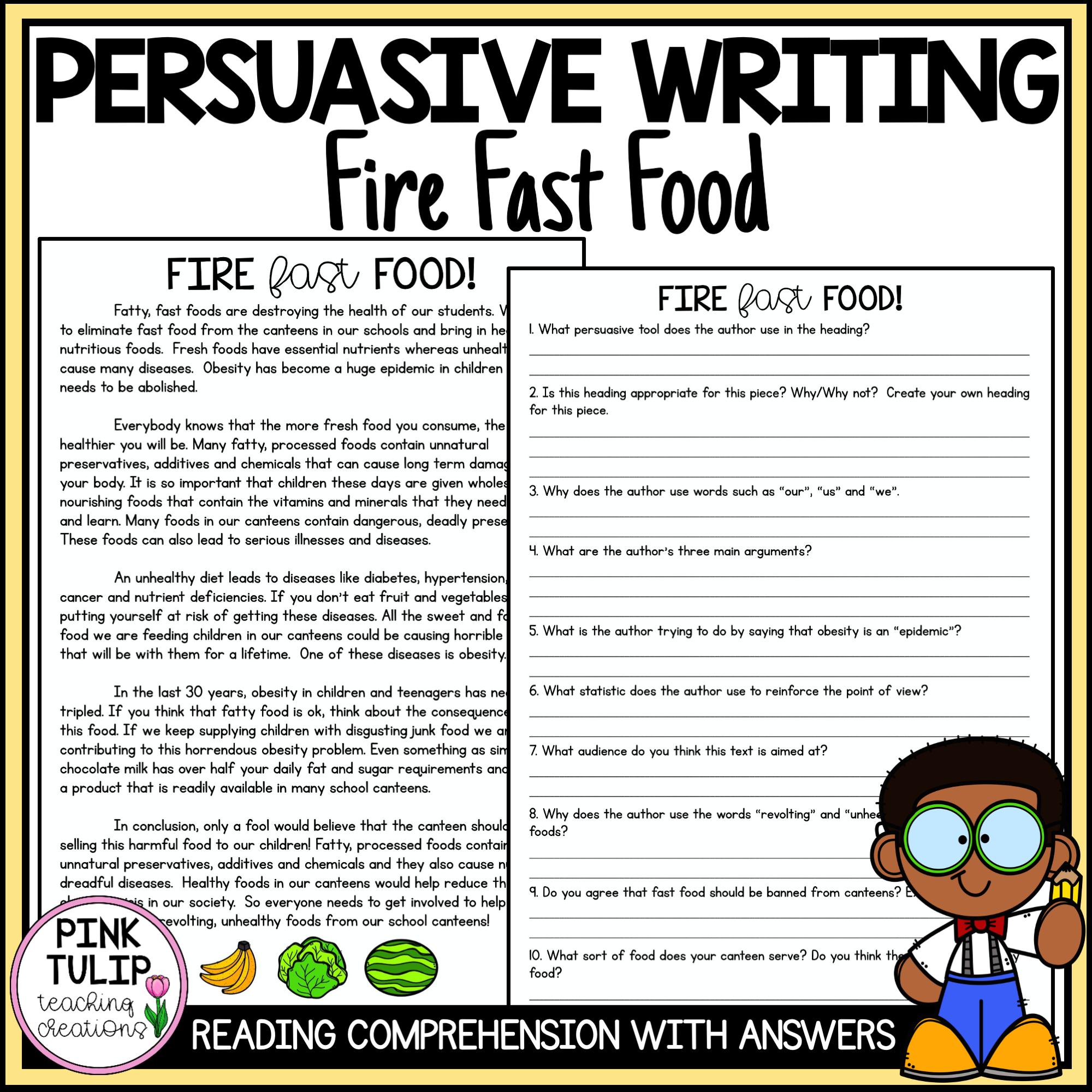 Persuasive Writing Comprehension