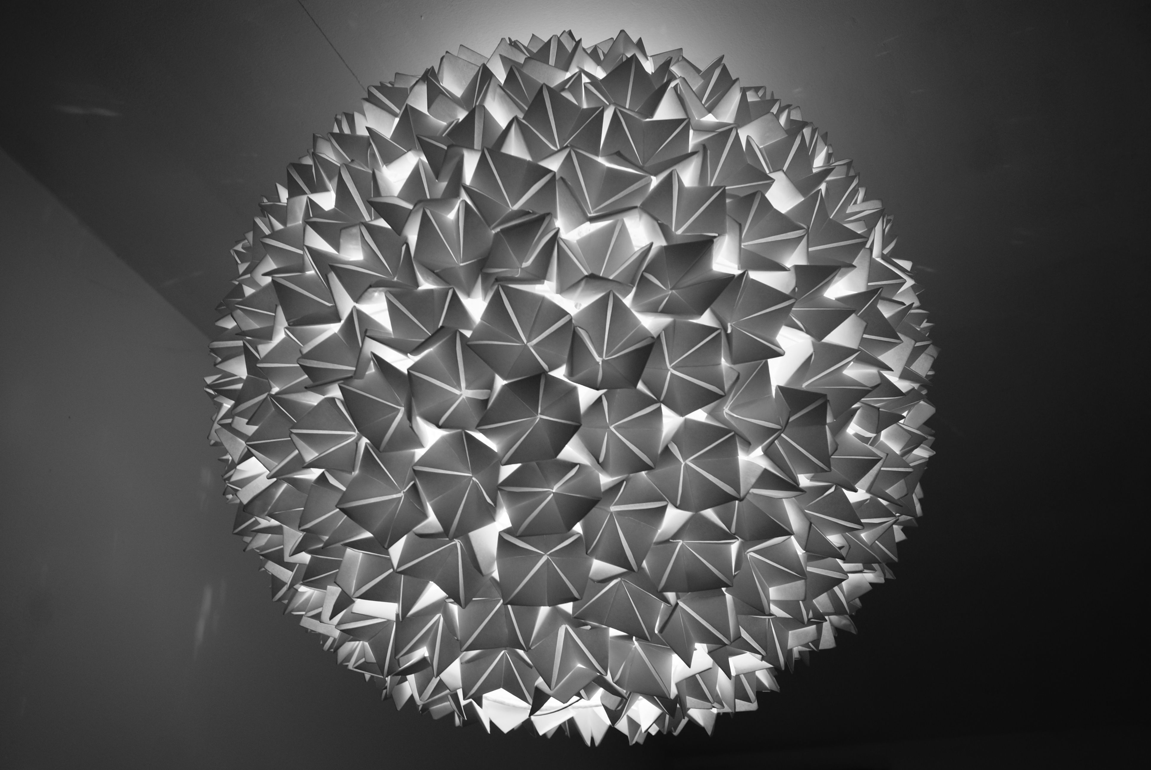 Boule façon origami