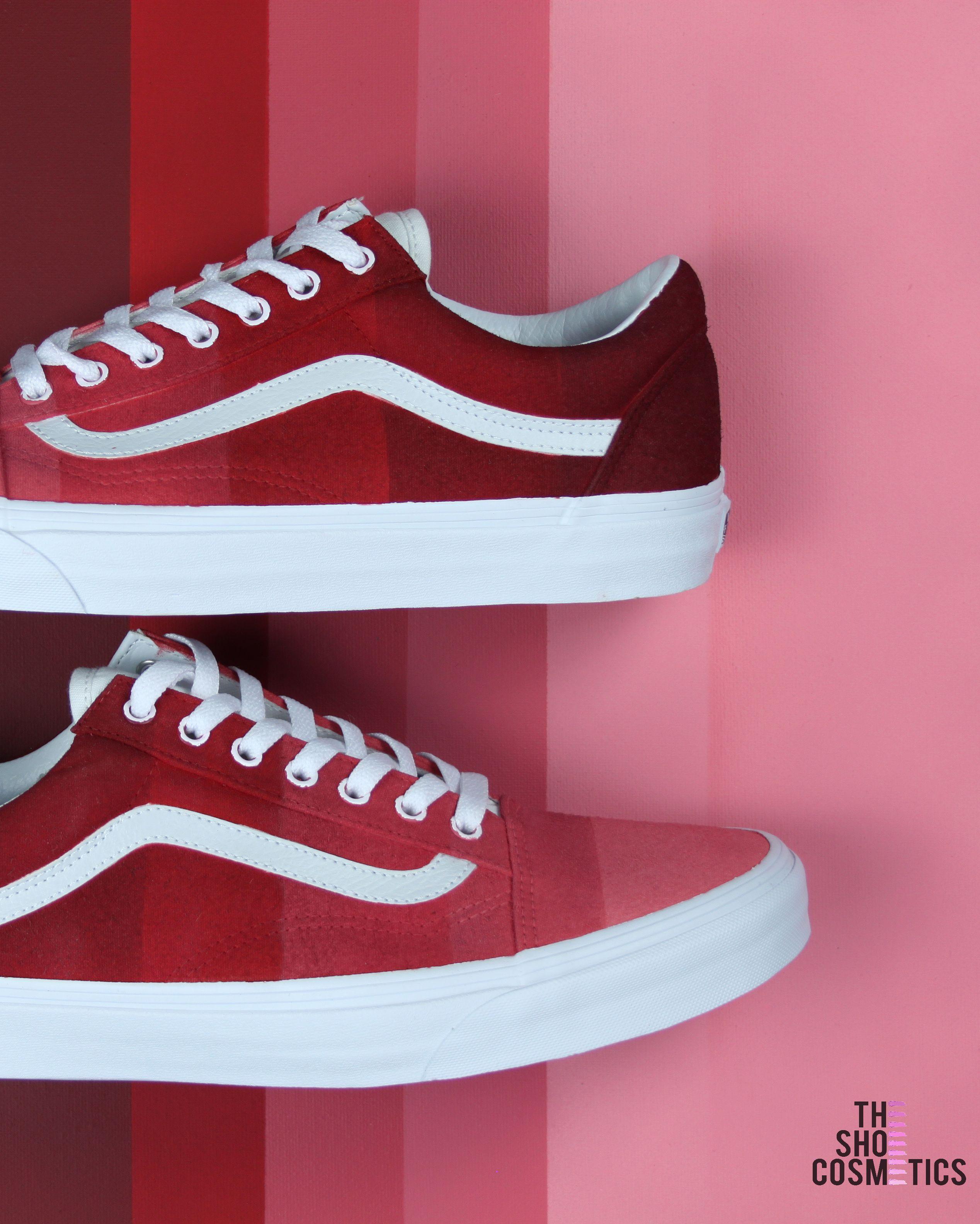 e1bdca0a197 Looking for red vans  Explore our custom Vans Old Skool sneakers in this red  palette ombre design. If you love the Old Skool Vans then these Custom Vans  ...