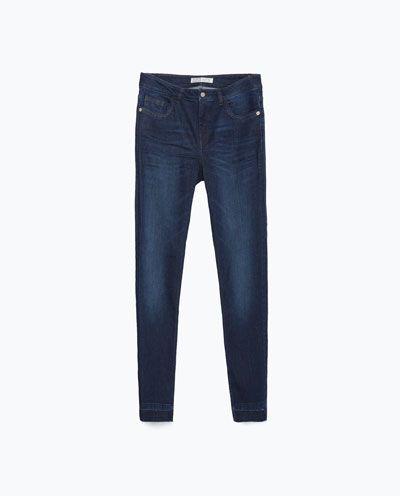 CALÇAS DE GANGA CINTURA MÉDIA CROPPED-Jeans-Mulher-COLECÇÃO SS16 | ZARA Portugal