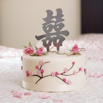 Weddingstar Asian Double Happiness Cake Topper In 2021 Wedding Cake Decorations Double Happiness Cake Asian Cake