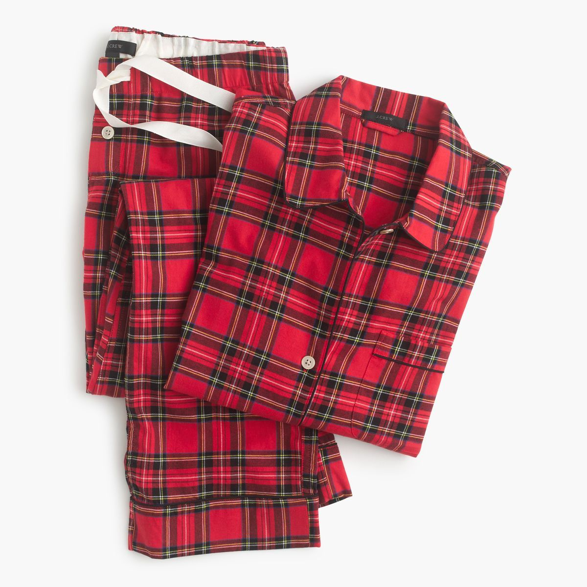 Striped flannel pajamas