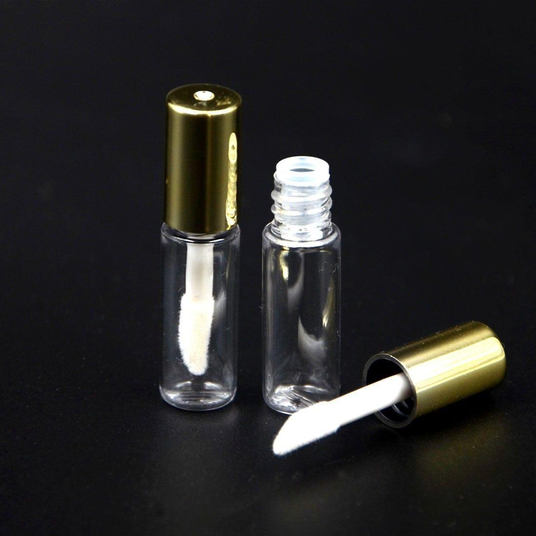 6a472f0cbbc Lot 10Pcs 1.2Ml Mini Empty Plastic Clear Lipstick Tube Balm Bottle Container