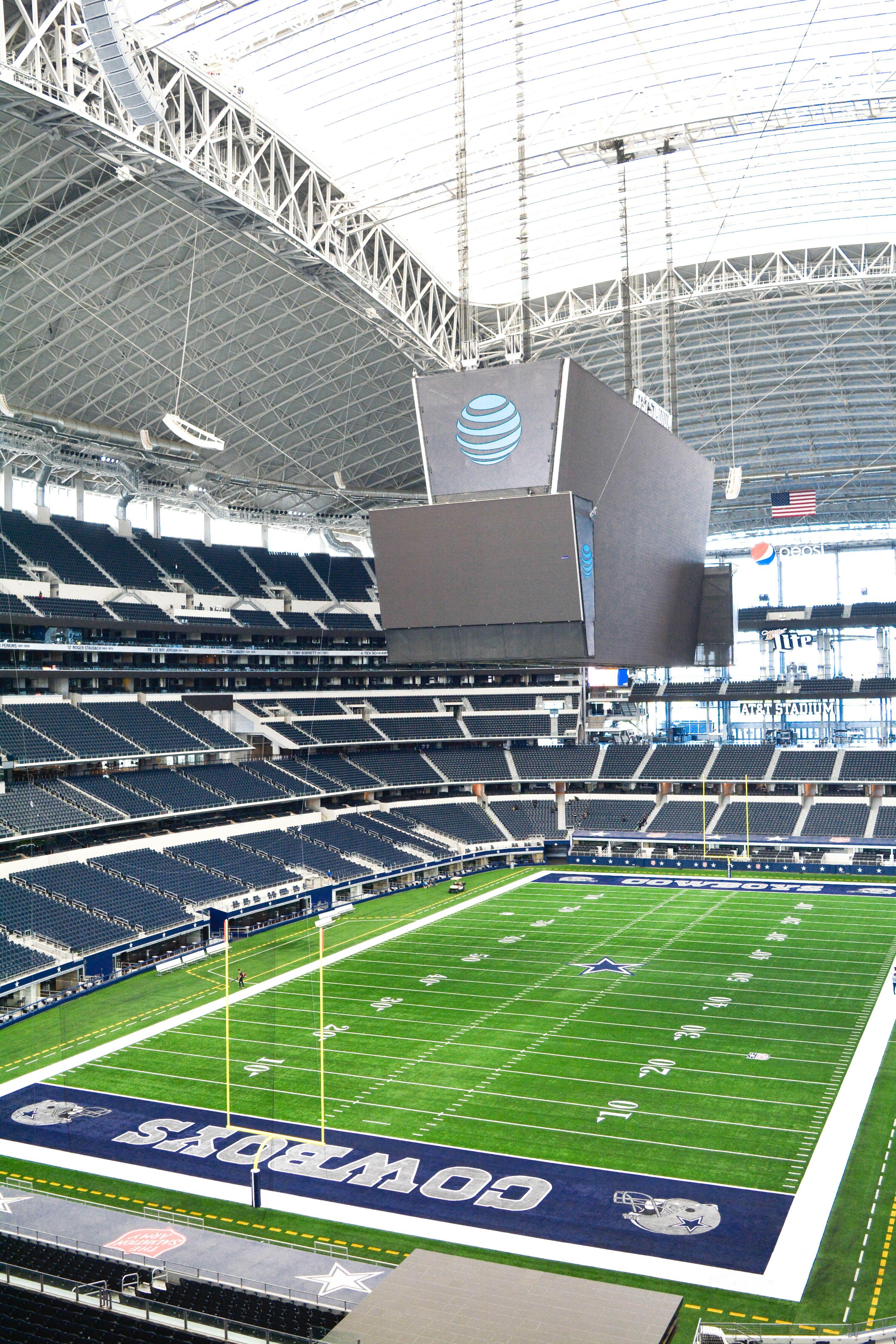 Inside At T Stadium Home Of The Dallas Cowboys In Arlington Texas Cowboys Stadium Dallas Cowboys Stadium Tour Nfl Football Stadium