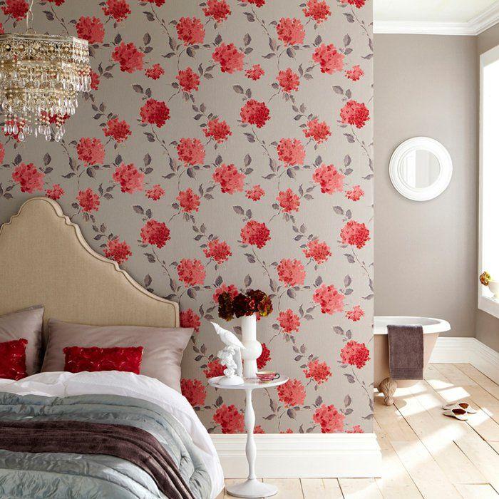 Wohnideen Betonen Schlafzimmer | Wandtapeten Fur Einen Wunderschonen Schlafzimmer Look Wandtapete