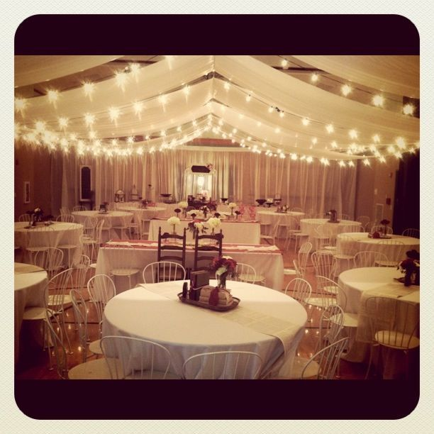 Indoor Wedding Reception Ideas: Lds Church Reception.vintage Wedding.red And
