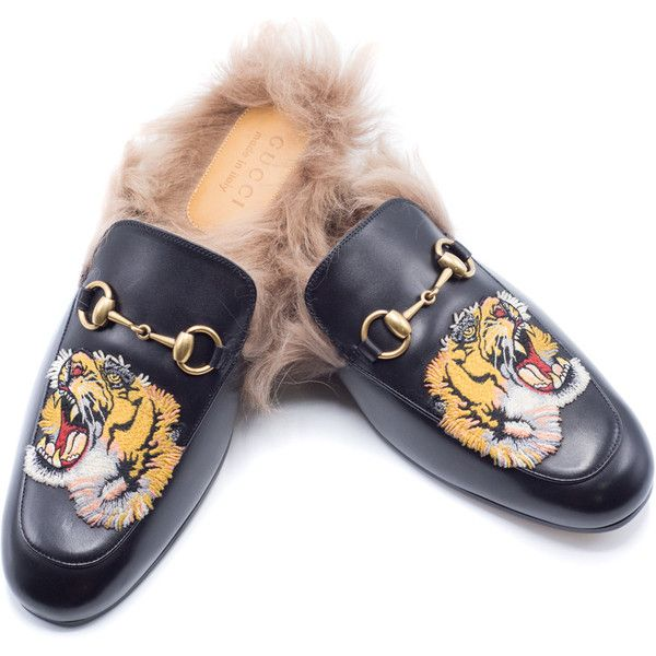 abd38111e Gucci Mens Princetown Emborided Tiger Slippers Loafers Size Gucci 6 Us...  (8420