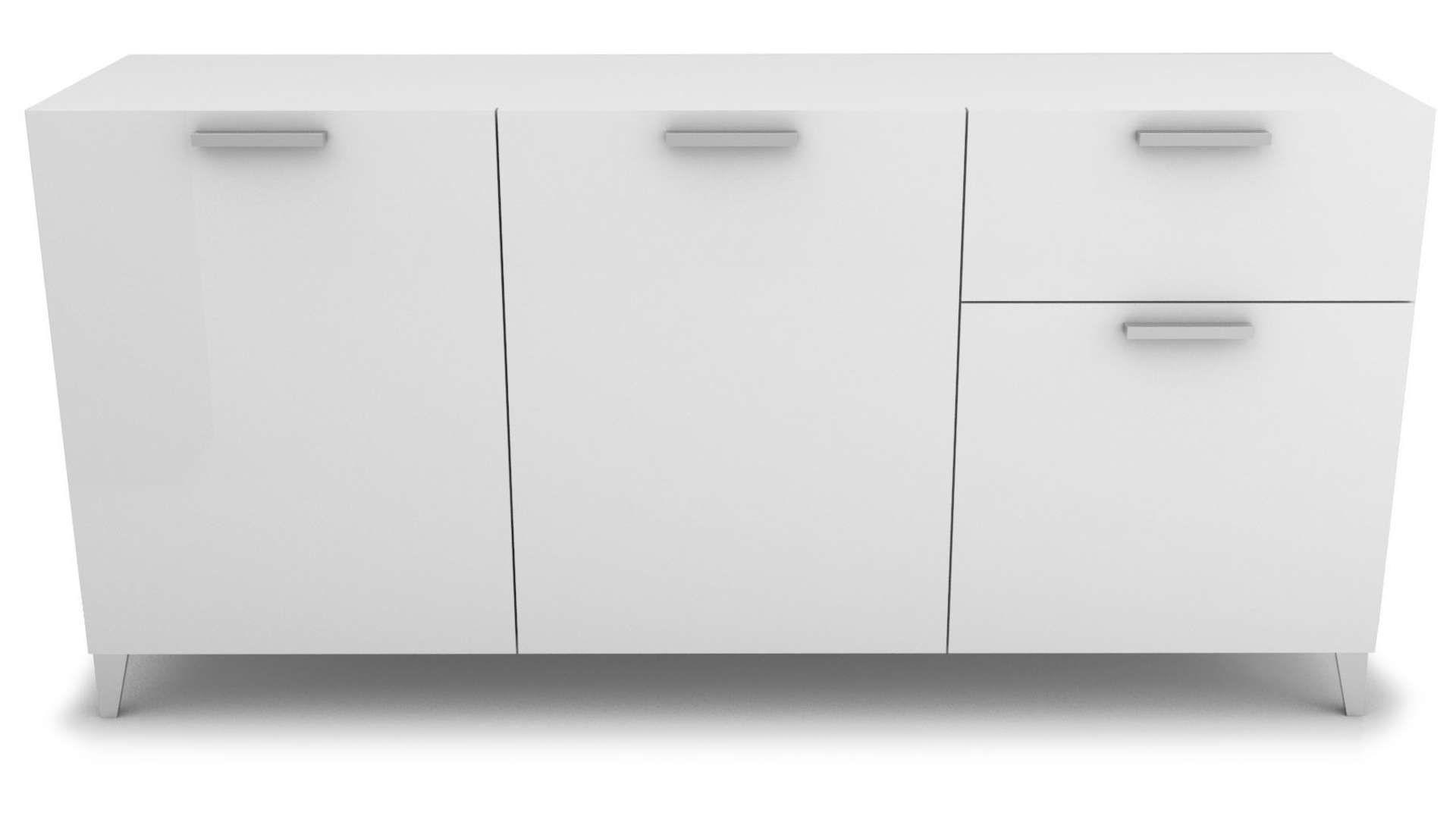 Buffet 133 portes+13 tiroir BLIZ coloris blanc  Tiroir, Buffet et