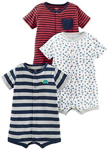 f92c4b041c6 Simple Joys by Carter s Boys  3-Pack Snap-up Rompers