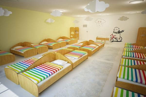 Rainbow Kindergarten Interior Design On Behance Kindergarten Interior Daycare Design Interior Design School