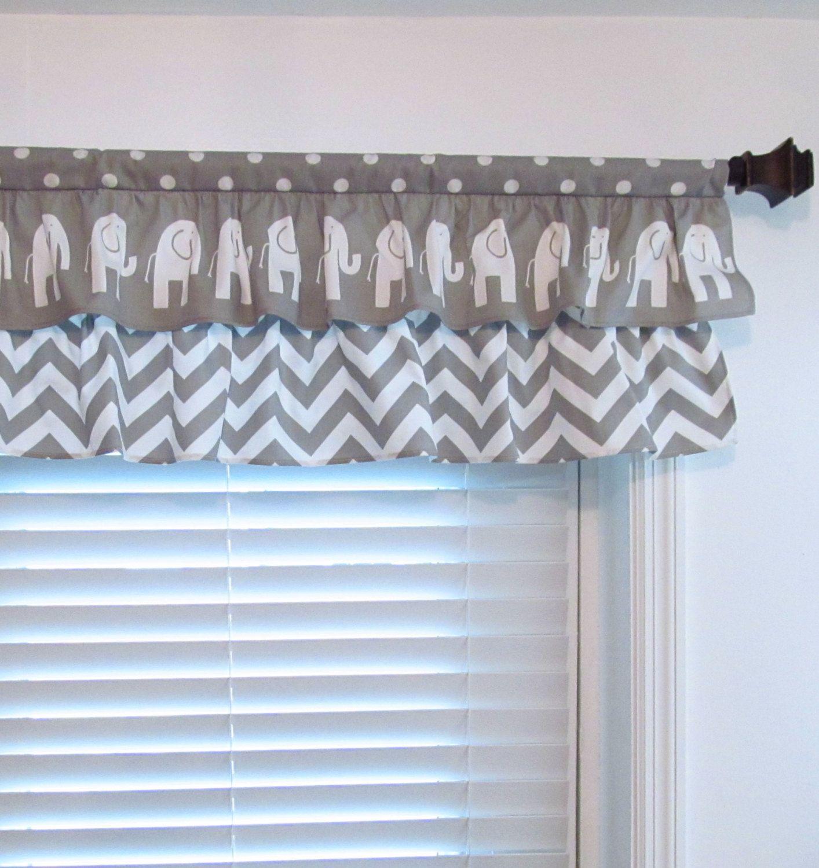 Your Place To Buy And Sell All Things Handmade Nursery Curtains Boy Baby Elephant Nursery Nursery Valance