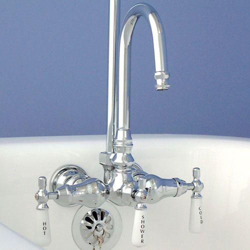 Brass Clawfoot Tub Shower Kit. Gooseneck Clawfoot Tub Shower Conversion Kit  tub shower