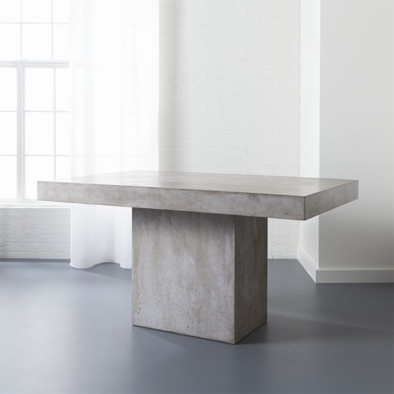 Fuze Grey Dining Table Grey Dining Tables Stone Dining Table