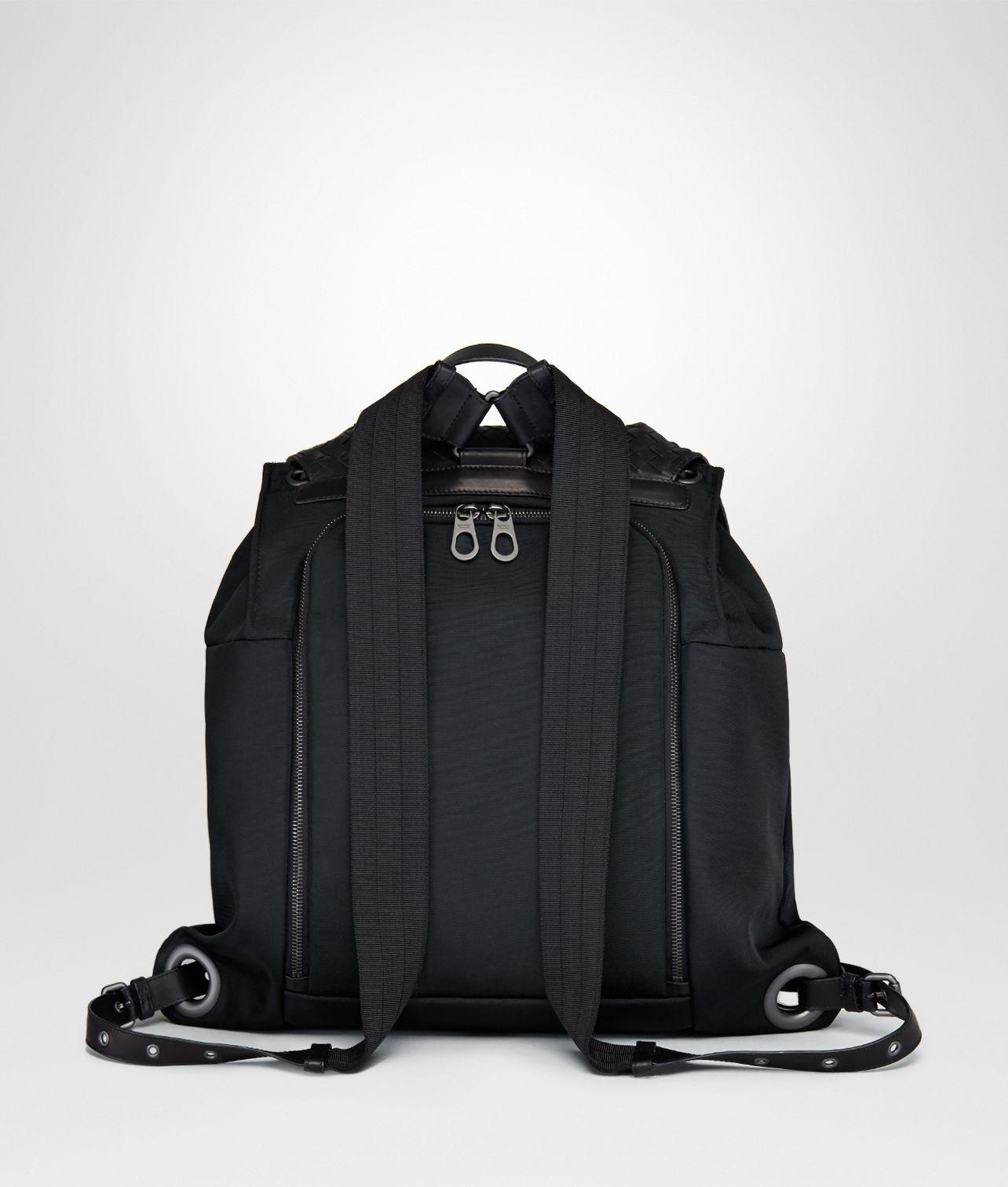 f856c44c34d5 Shop Bottega Veneta® Men s BACKPACK IN NERO TECHNICAL CANVAS AND  INTRECCIATO CALF. Discover more