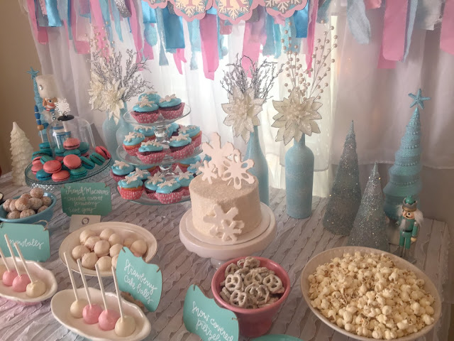 Photo of Winter ONEderland 1st birthday party decoration ideas. Food table backdrop and d…