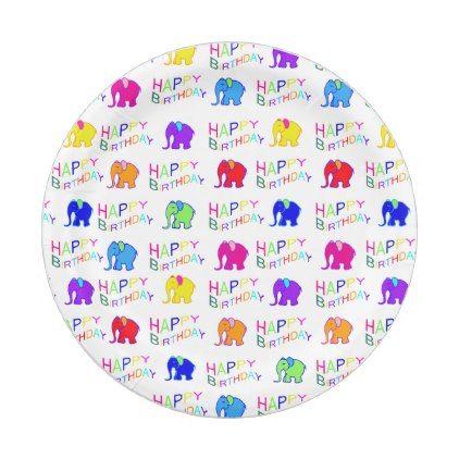 #cute - #Rainbow Colour Cartoon Elephants Children Birthday Paper Plate  sc 1 st  Pinterest & Rainbow Colour Cartoon Elephants Children Birthday Paper Plate ...