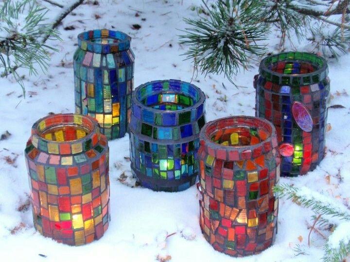 Reciclado de frascos quedan hermosos lo que me for Reciclar frascos de vidrio de cafe