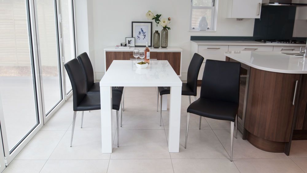 Fern White Gloss Extending Dining Table & Fern White Gloss Extending Dining Table | Fern Dining and Dining ...