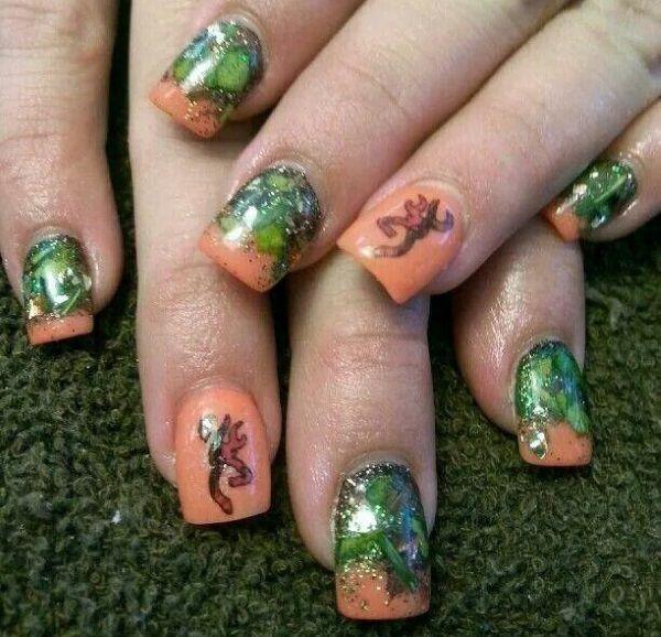 Glittering Camouflage Nail Design - 13 Pretty Camouflage Nail Designs Camouflage Nails And Camo Nails