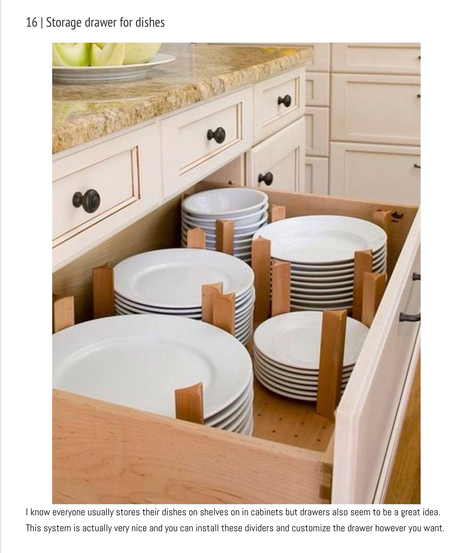 Bringt Ordnung in Küche Deco