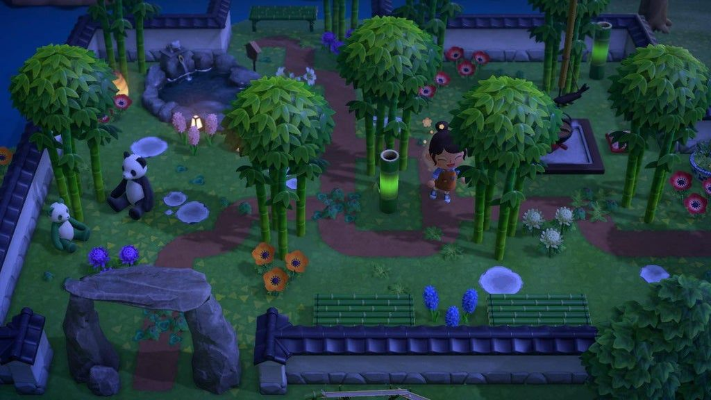 A cute bamboo garden I made today 🥰 : ac_newhorizons in ...
