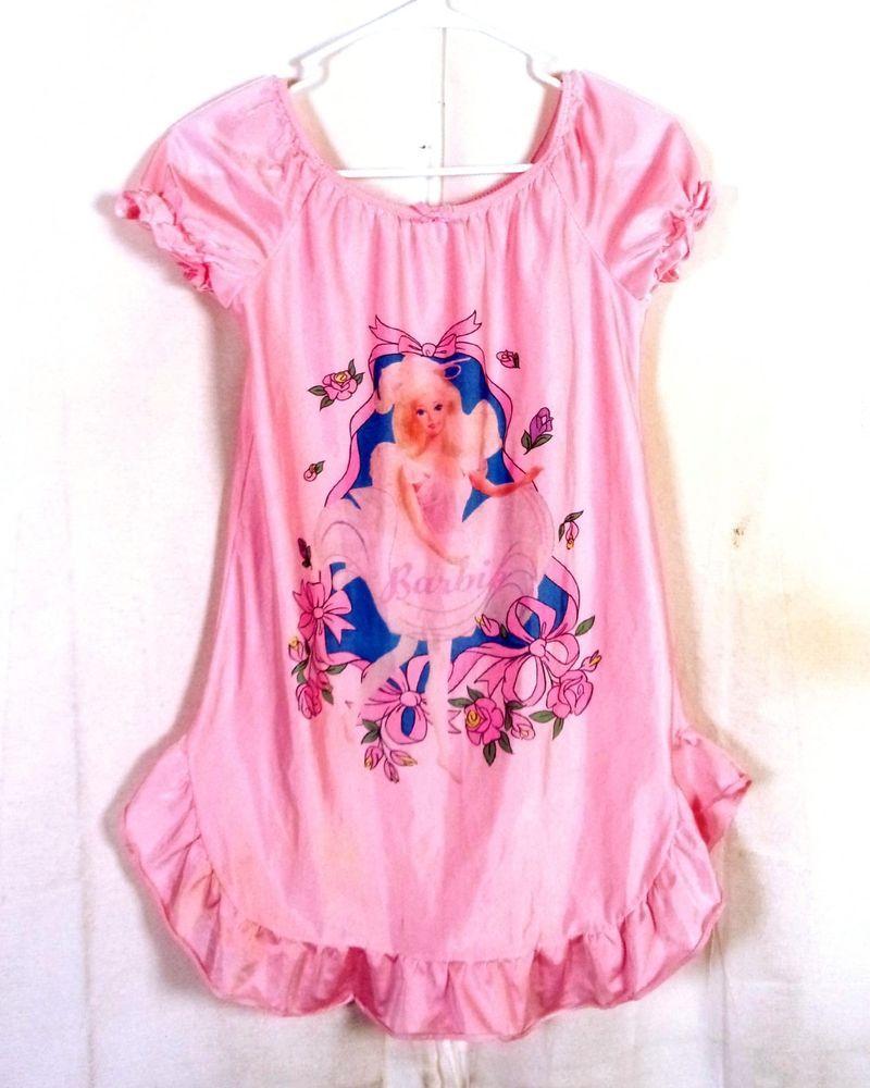 1e21aeef3 vtg 80s RARE Barbie Full Graphic Barbie Doll Image Kids Pajama Shirt ...