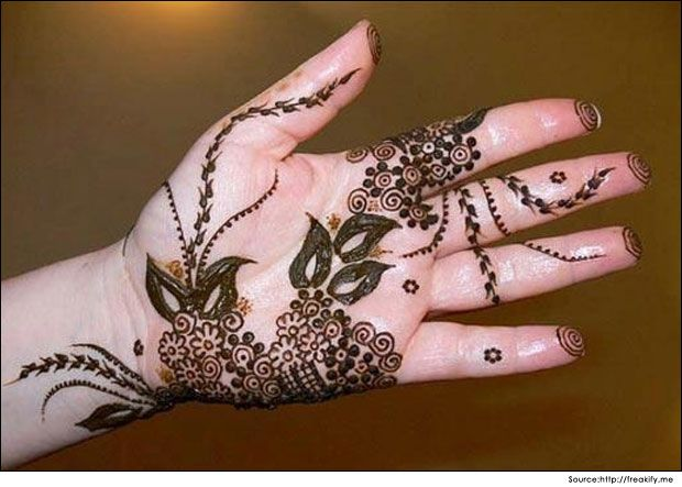Arabic Mehndi Patterns S : Balanced arabic henna design for your palms mehndi