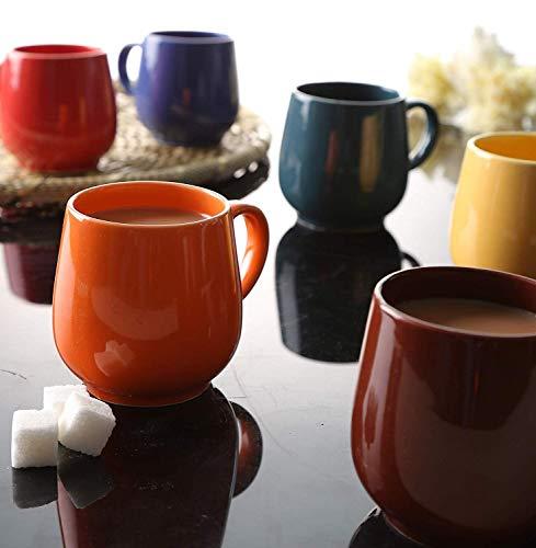 Jrp Mart Multi Color Oval Ceramic Tea Cups Coffee Mugs Set Of 6 Best Coffee Mugs Ceramic Tea Cup Tea Cups