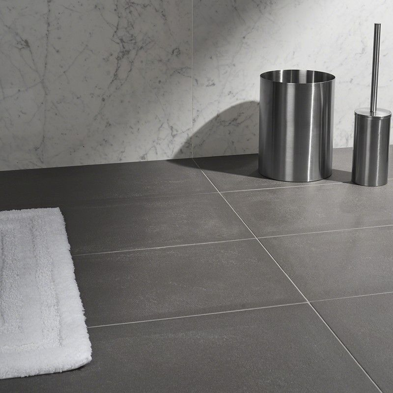 Ec1 Industry Concrete City Antracite 12x24 Matte Porcelain Tile Porcelain Tile Concrete Tile Floor Concrete Look Tile