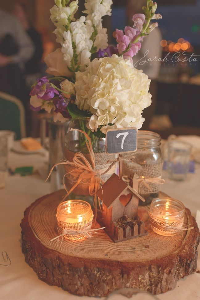 Cute Centerpiece There Is Also A Really Wedding Cake Table Set Up On Website