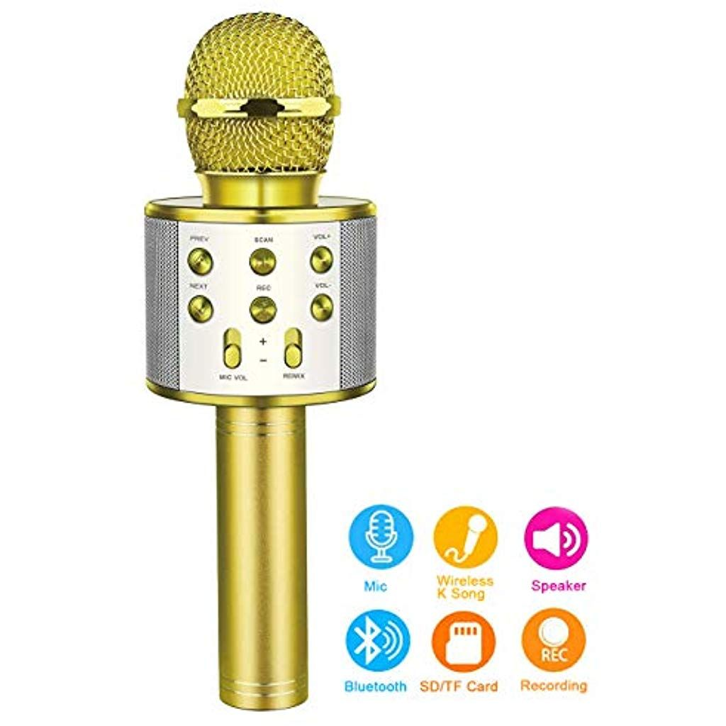 Bluetooth Microphone for Kids Touber Wireless Karaoke Microphone ...