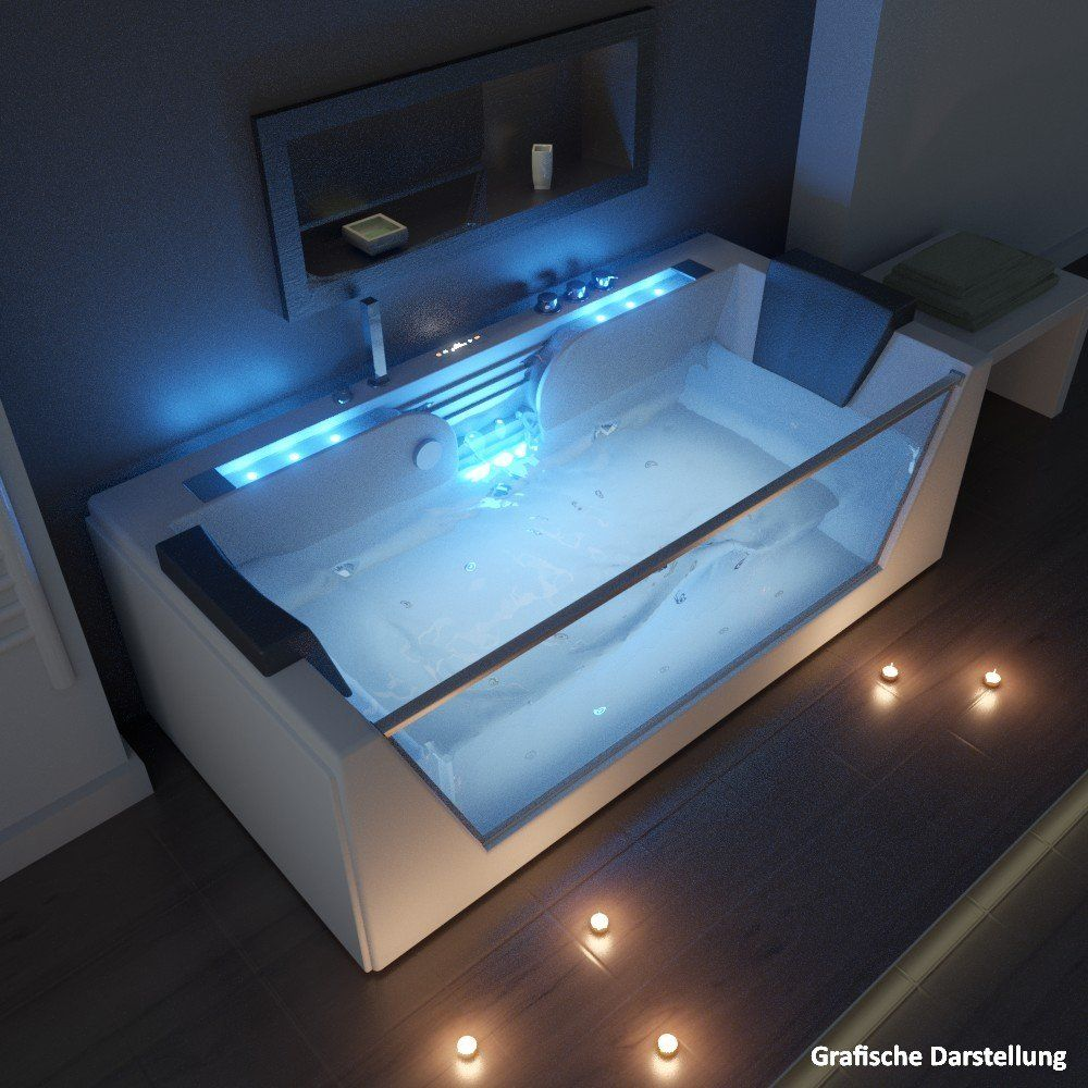 TroniTechnik luxury Whirlpool Kos 2 Bathtub Tub Jacuzzi 2 Persons ...