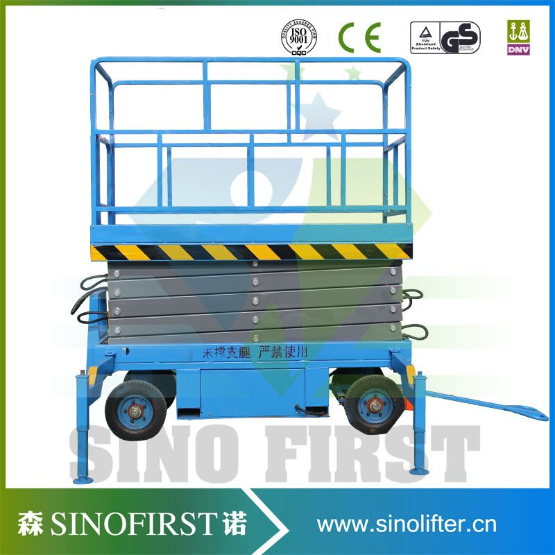 Sinofirst Movable Hydraulic Scissor Lift Table Max Platform Height ...