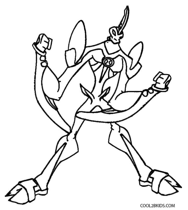 Ben 10 Coloring Pages Cartoon Coloring Pages
