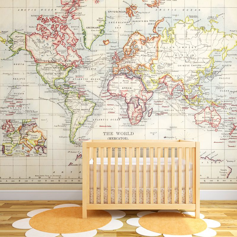 17 Cool Ideas For World Map Wall Art  Vintage maps Wall murals