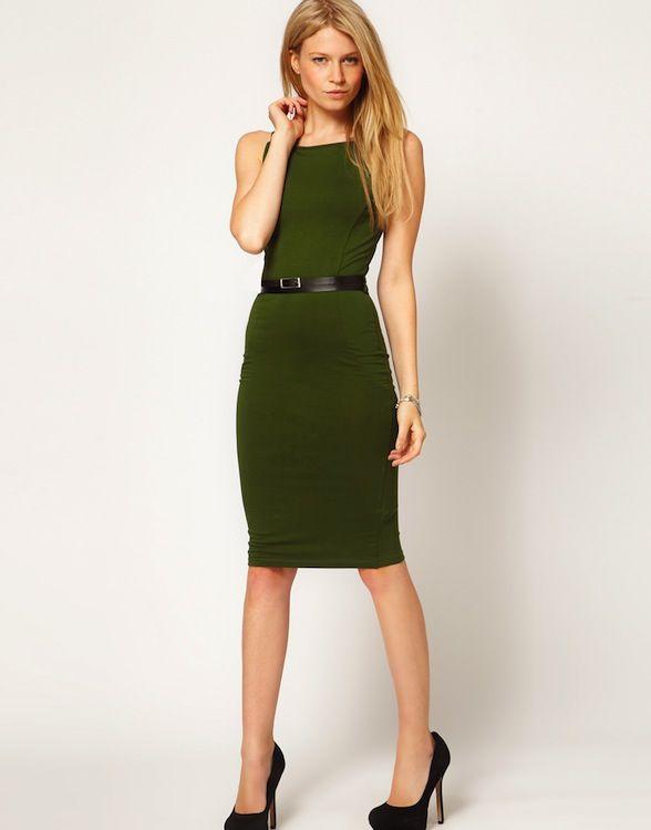 f16ed0e9b combinacion verde oliva y negro. combinacion verde oliva y negro Vestido ...
