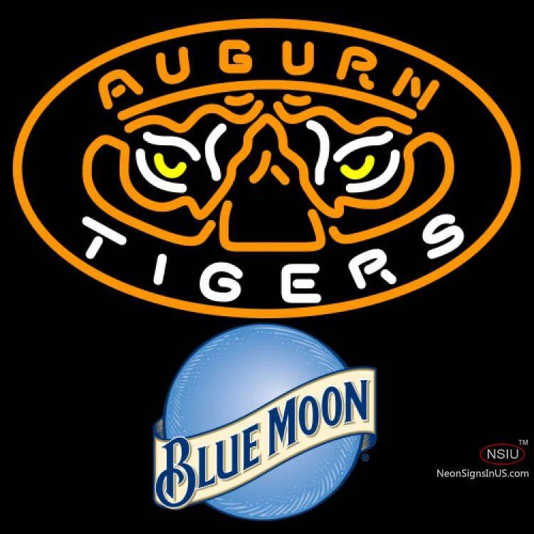 blue moon auburn tigers university real neon glass tube neon sign rh pinterest com Auburn Tigers Wallpaper Cartoon Auburn Tiger Logo