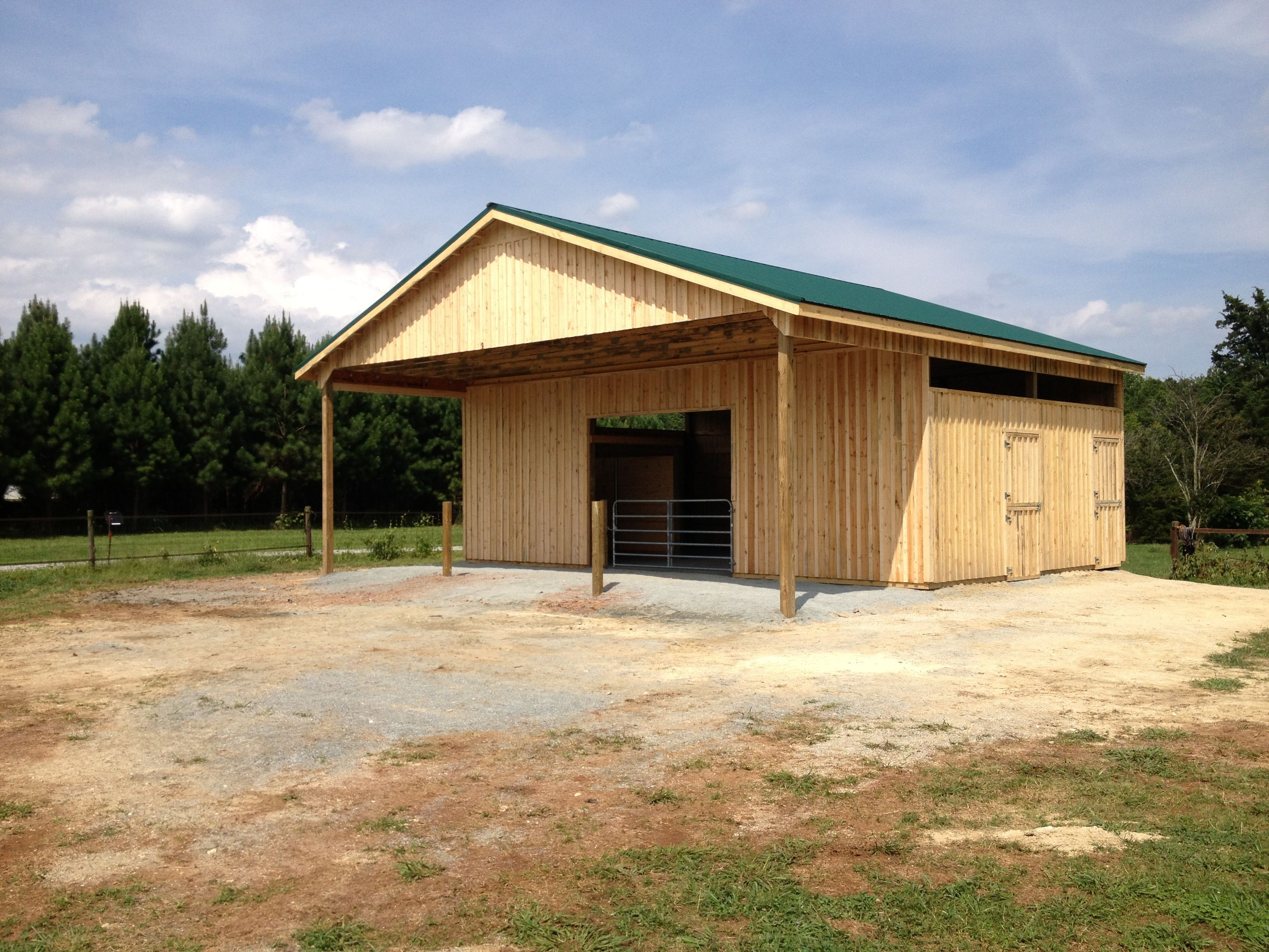 4 stall barn with front porch barn layout horse barns cave creek front