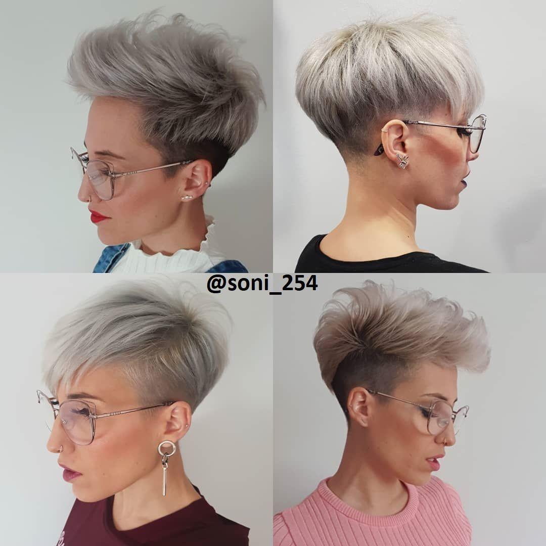 Kontrastgenser i 10  Frisyrer for tykt hår, Kort pixie, Fint hår